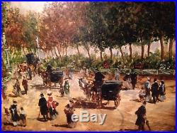 Huile sur toile les boulevards de paris scène animée ancienne impressionniste