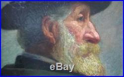 Huile sur toile portrait d'homme provençal début XXe