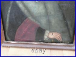 Huile sur toile portrait d'un avocat Fin XVIIIème 18ème siècle