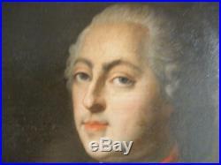 Huile sur toile portrait de Louis XV école du XVIII è siècle