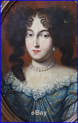 Huile sur toile portrait présumé Marie Thérèse d'Autriche époque XVII, 17ème