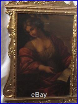 Huile sur toile représentant une sybille