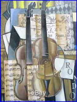 Intéressante Composition Cubiste aux Violons dElena KHMELEVA