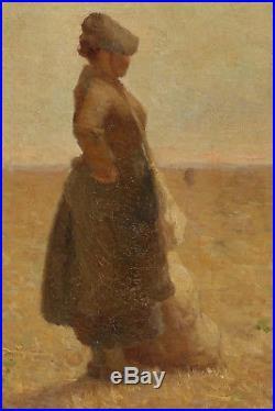 Isidore Verheyden, 1880, Bénézit, Coté 6500! La Glaneuse! Réalisme Social, Rare