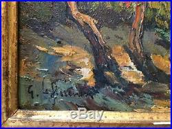 JOLIE PAIRE DE PEINTURES, HUILE SUR TOILE, BORD DE MER signé G. LE FLORENTIN