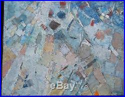 Jacques GERMAIN (1915-2001) huile sur toile Abstraction grise 1960