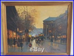 Jacques MULLER Tableau HUILE sur TOILE XXe Signe PARIS La MADELEINE Peinture Art