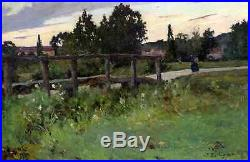 Jacques Van Coppenolle 1878-1915. Grand & Beau Paysage Postimpressionniste 1901