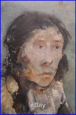 Jean Jansem Portrait de femme huile sur toile signée