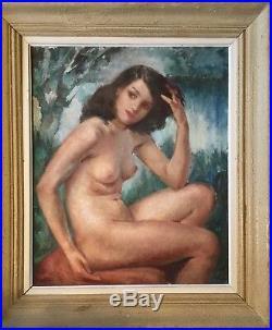 Jeune femme nue. Tableau