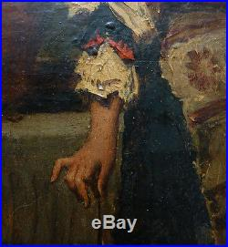 Jeune fille italienne Peinture Pierre De Coninck (1828-1910) Italie 19e siècle