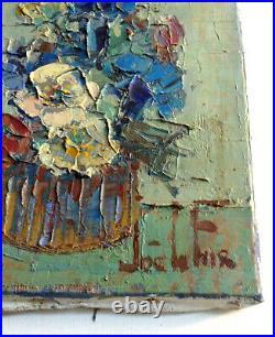 Joë Le FUR (1920-2001) Superbe Composition au Bouquet Huile au couteau sur toile