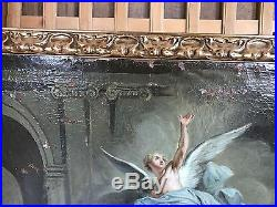 Joli Grand tableau 18 E Siècle à Restaurer Expertise Turquin Certificat XVIII