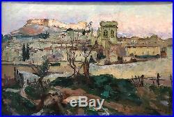 Joseph Meissonnier (1864-1943) Villeneuve-lès-Avignon Huile sur toile v 84