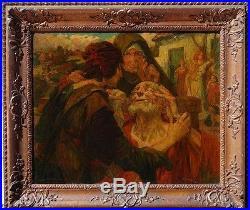 Joseph Posenaer, 1901, Bénézit, Grosse Cote! Tobie Guérit les Yeux de son Père