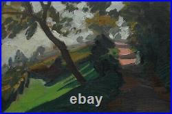 Jules Flandrin (1871-1947) Parc personnages, isère, dauphiné, lyon, jardin, promenade