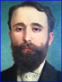 Jules Frédéric BALLAVOINE (1855-1901) Portrait Homme Notable Huile signée