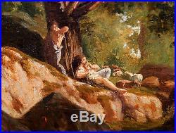 Jules coignet (París, 1798 1860) École de Barbizon Huile sur toile