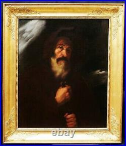 Jusepe de RIBERA tableau ancien portrait Saint François Paule italien espagnol
