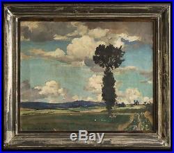 L'arbre isolé HST signée Claude RAMEAU (1876-1955) Saint-Thibault Loire Cher