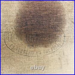 La Béguine au puits Dixmude Belgique Huile sur toile signée Leon Cassel 1913
