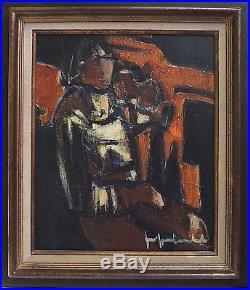 Le Violoniste de Jef FRIBOULET (1919-2003), bel encadrement d'Art DELF
