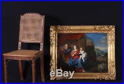 Le repos de la Sainte Famille Ecole Française du XVIIIème