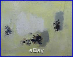 Léon ZACK (1892-1980) Huile sur toile, composition abstraite 1961