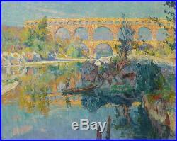 Louis Agricol MONTAGNÉ, Le Pont du Gard Huile sur toile, postimpressionnisme (v)