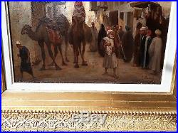 Louis Claude Mouchot (1830/1891) Orientaliste Algérie Maroc Egypte 55 x 38cm