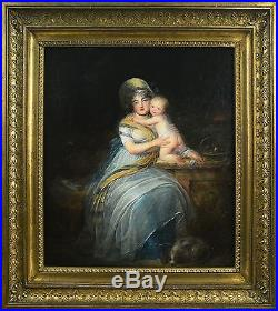 Louis Léopold Boilly (Attrib.) (1761-1845) Portrait of a mother with her child