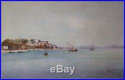 Louis NATTERO (Marseille 1870-1915) la côte près de Toulon Ecole Provençale
