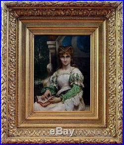 Louis Priou, 1875, Bénézit, Cote Enorme! La Liseuse! Exceptionnel Portrait