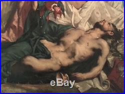Louis Priou Huile Allegorie 19e Academique 1872 Salon Francais Toulouse Poete