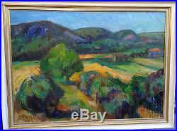 huile sur toile blog archive louis toncini 1907 2002 paysage proven al huile sur toile. Black Bedroom Furniture Sets. Home Design Ideas