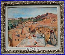 Lucien MAINSSIEUX (1885-1958) Ksar Peintre du Dauphiné Grenoble ORIENTALISME