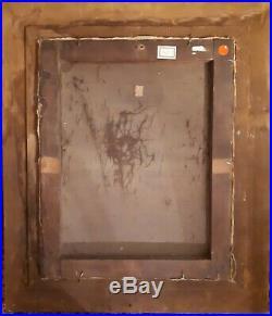 MAGNIFIQUE HUILE SUR TOILE 40 X 50 cm PORTRAIT DE JEUNE FEMME DLG MANET 1850