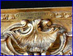 MAGNIFIQUE & MONUMENTAL TABLEAU XIXe. PORTRAIT DE LÉCRIVAIN ALPHONSE DAUDET