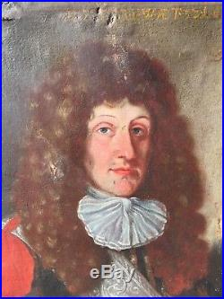 MAGNIFIQUE PORTRAIT DE NOBLE HUILE SUR TOILE ÉPOQUE XVIIème ÉCOLE AUTRICHIENNE
