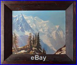 MARCEL WIBAULT- Tableau de montagne -Massif du Mont Blanc