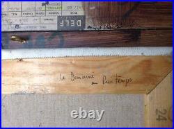 MARIE ASTOIN (1923 -2011) Ecole Provençale Le Domaine au Printemps Huile signée