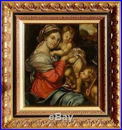 Madone à l'Enfant, 1650, Ecole Italienne du XVIIème Siècle! Superbe