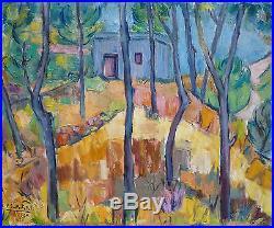 Marcelle GUETTA-FATTAL (1922-2009) HsT 1985 / Jeune Peinture Nle Ecole de Paris