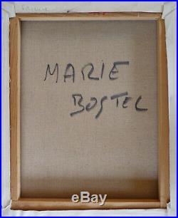 Marie BOSTEL (1936-2015) HsT Années 80' Expressionnisme Ecole Normande