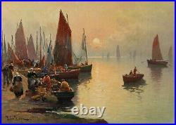 Marie LEFEVRE (née en 1840) retour de pêche à Concarneau /BRETAGNE