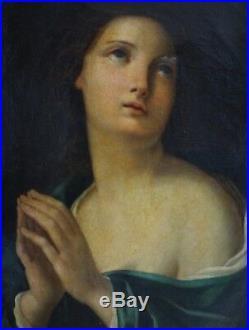 Marie Madeleine Huile sur toile Italie époque fin XVIIIe
