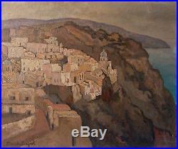 Maritxu BAIGNOL (XX°s.) Village de la côte basque Ecole BASQUE Ciboure