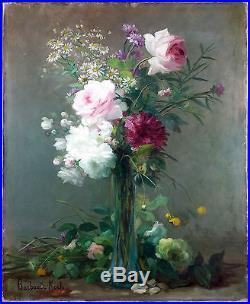 Marthe Elisabeth Barbaud-Kock (Française, 1862-1928) Ancien Tableau Peinture