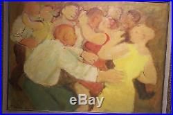 Maurice SAVIN Le Bal huile sur toile signée et datée de 1970