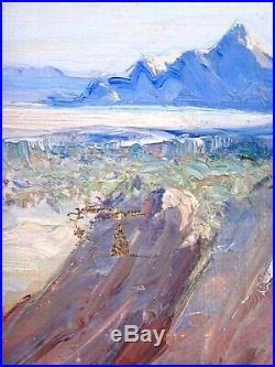 Maxime NOIRÉ (1861-1927) HST Orientaliste titrée Zenaga vu du col de la Juive